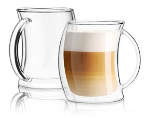 JoyJolt Caleo Collection Glass Coffee Cups
