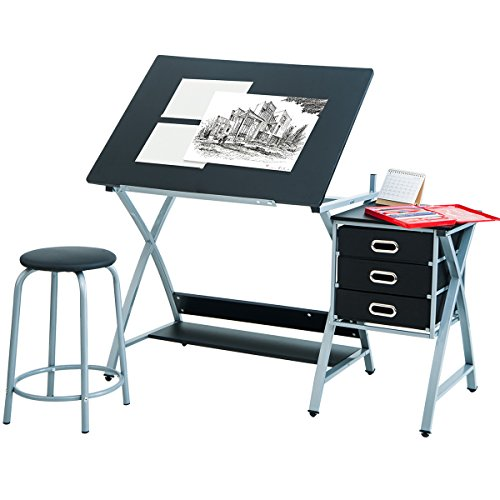 Harper&Bright Designs Foldable Drafting Table
