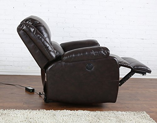 Bonded Leather Power Electric Recliner