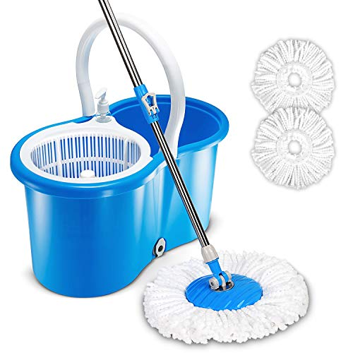 HAPINNEX Easy Spin 360° Press Mop Bucket