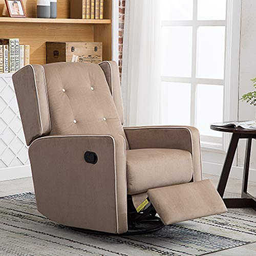 CANMOV Microfiber Swivel Rocker Recliner
