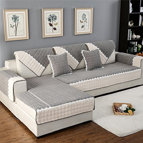 OstepDecor Multi-Size Corduroy Quilted Slipcover