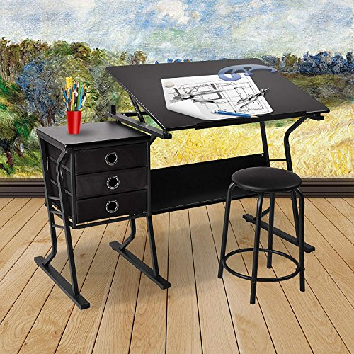 Mecor Adjustable Height Art Drawing Desk