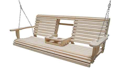 Wood Lumber Roll Back Porch Swing